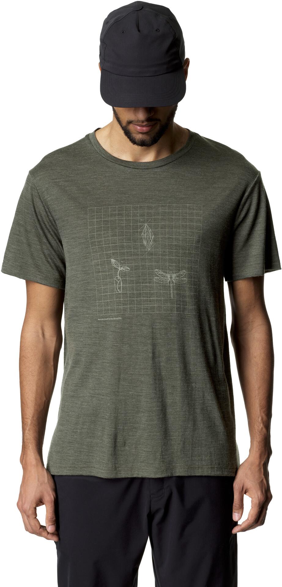 Houdini Activist T shirt Herrer, willow green